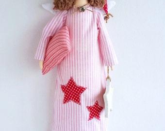 Textile Doll PDF Digital Pattern 'Sleeping Angel' Valentine's Day Home Decor