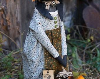 Textile Doll PDF Digital Pattern 'Harvest Hare' Easter Home Decor
