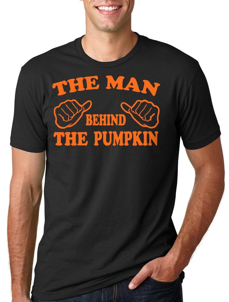 c850d32d The Man behind the Pumpkin Halloween T-shirt dad pregnancy tee | Etsy