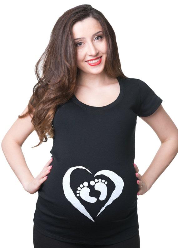 WOMENS PEEKING BABY MATERNITY T SHIRT FUN CUTE PREGNANCY T SHIRT SHOWER GIFT