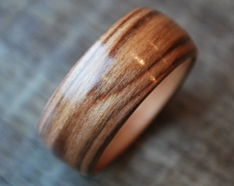 Wood Ring - Wooden Ring - Bentwood Ring - Wood Wedding Bands - Wooden Engagement Rings - Wood Jewelry - Wooden Wedding Rings - Cherrywood