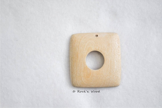 Unfinished Wooden Circles - natural eco friendly 1,85 47 mm made from beech wood 5 pcs pendant