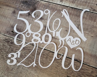 Personalised Coordinates of Special Place Papercut (Unframed)