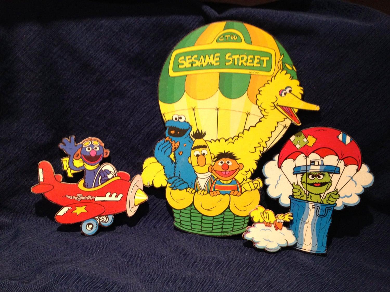 Contemporary Sesame Street Wall Decoration Scene Kit Pattern - Wall ...
