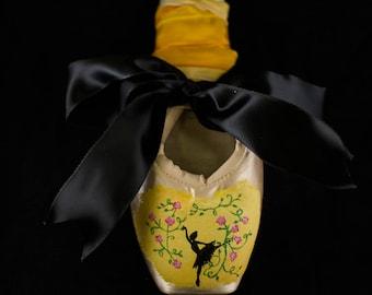 Ballerina Silhouette Pointe Shoe