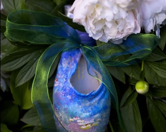 Handpainted Monet Water Lillies Pointe Shoe