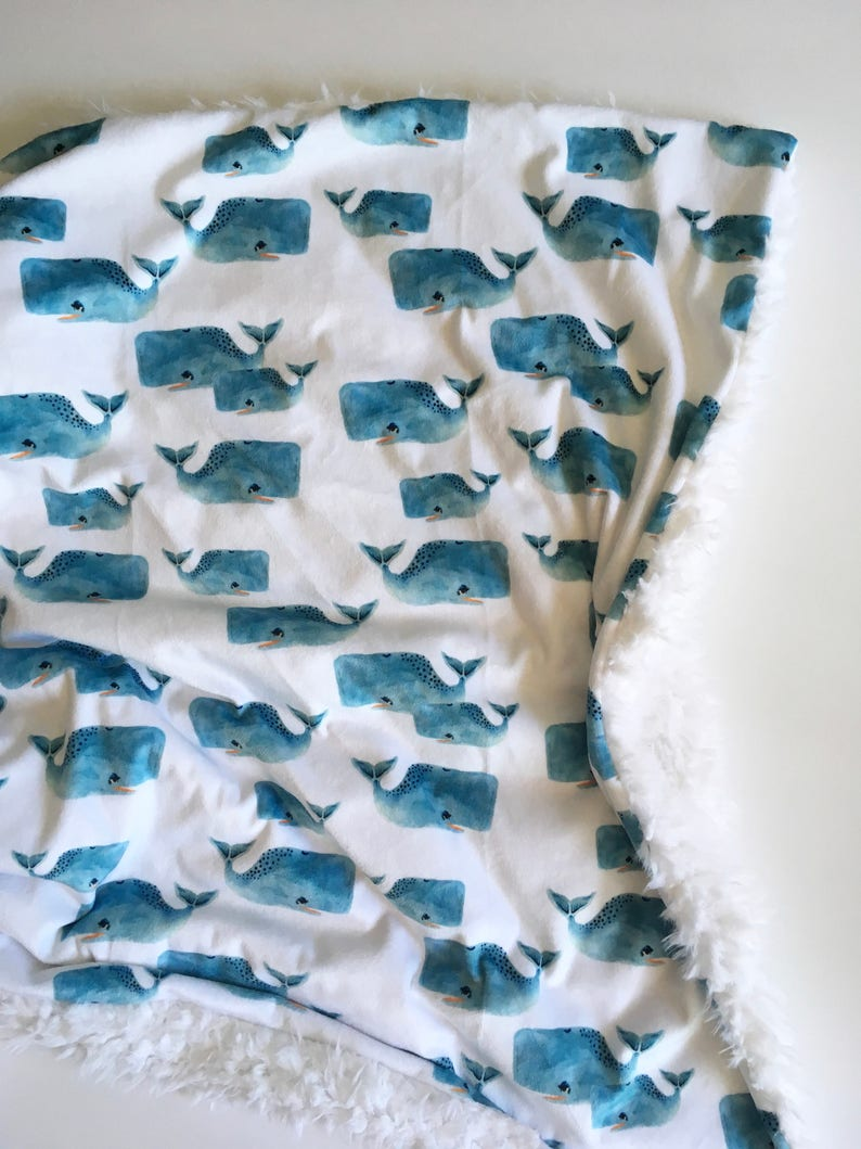 Whale baby blanket navy minky Baby Blanket minky Baby Blanket modern baby gift dwell darling hipster whales baby bedding