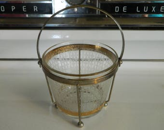 Starlyte ice bucket with caddy / serving bowl / chip bowl / plant holder /  Hollywood regency