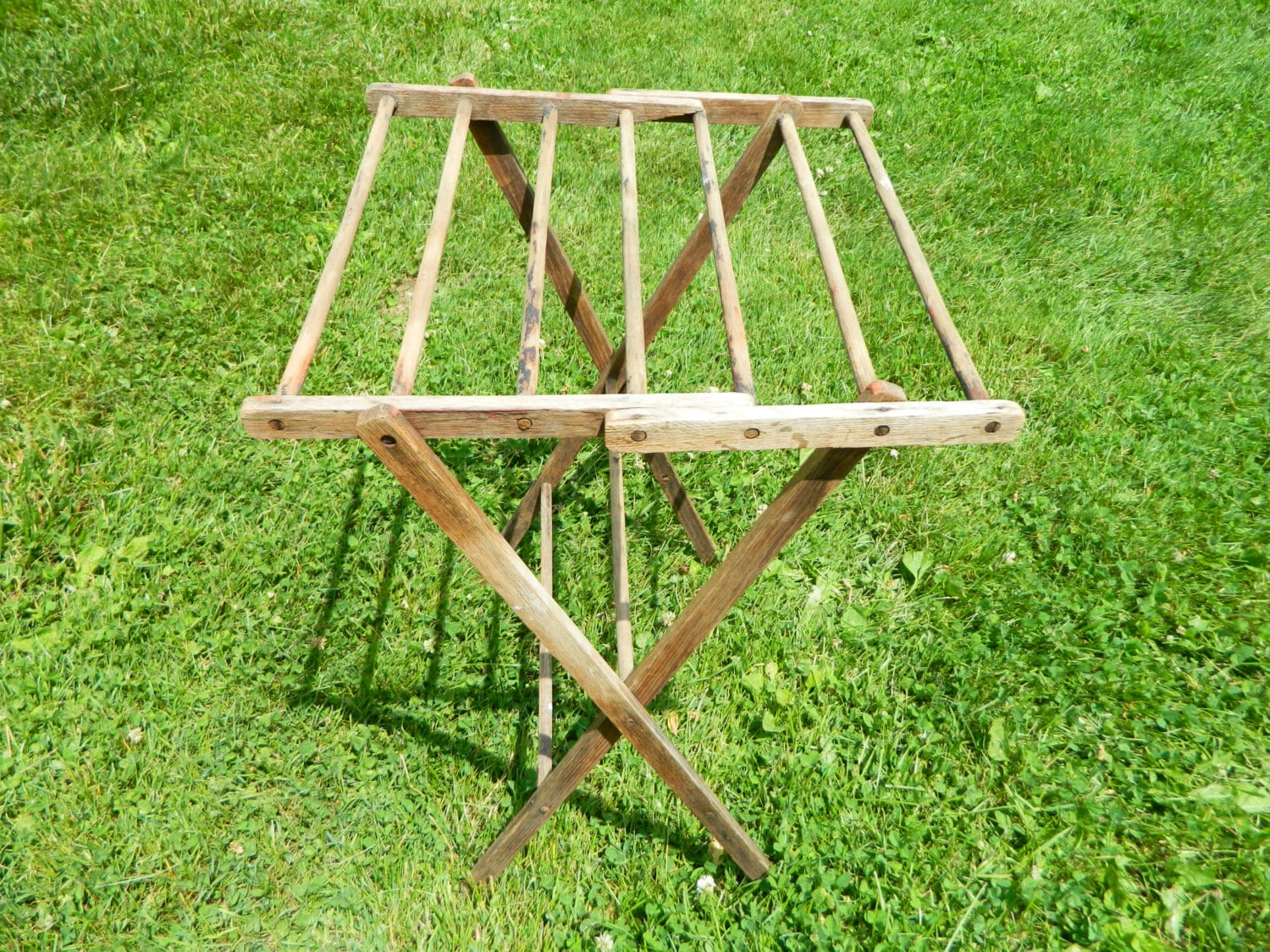 Small Folding Wood Drying Rack Primitive Drying Rack