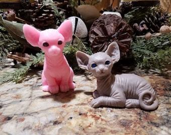 Hairless Sphynx Kitten Soap, Cutest Sphinx Naked Cat, Easter Gift,  Hostess Gift, Birthday Gift, Guest Bath, Stocking Stuffer,