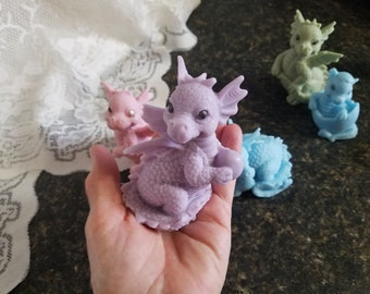 So Cute Baby Dragon Mythical Soap Birthday Party Gift or Shower Favors Handmade For That Special Holiday, Easter Basket Gift, Baby Dinosaur