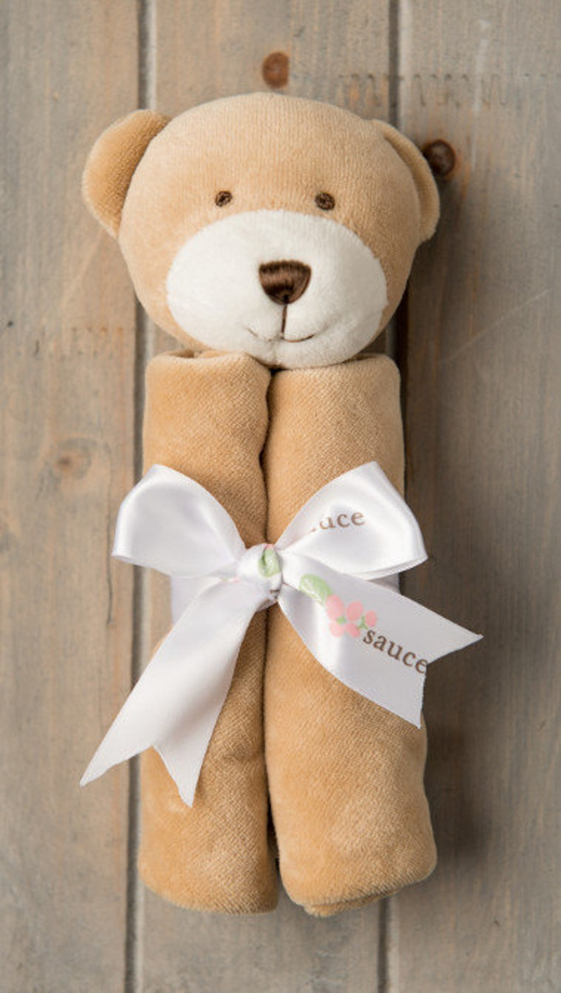 Brown Bear Banky Blankie Snuggie with FREE Personalized Monogram or Baby/'s name