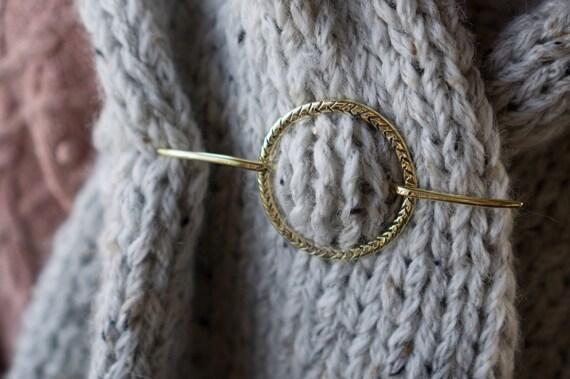 Scarf Pin Hair Pin Shawl Pin Hair Accessories Hair Jewelry Hair Stick Boho Gifts for Her Modern Accessories Silver Brass Barrettes Hair Clip
