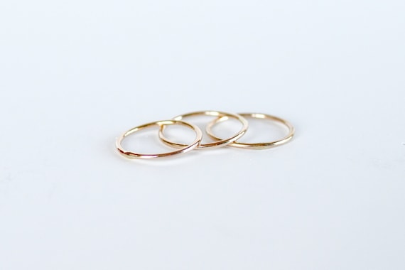 Gold or Silver Midi Rings Stacking Rings Layering Rings Knuckle Rings Boho Jewelry Modern Minimal Jewelry Ring Sets Boho Ring Holiday Gifts