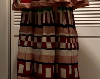 Seminole American Native Arts and Crafts handmade shirt patchwork Indian  jacket XL  quilted vintage 50s 60s