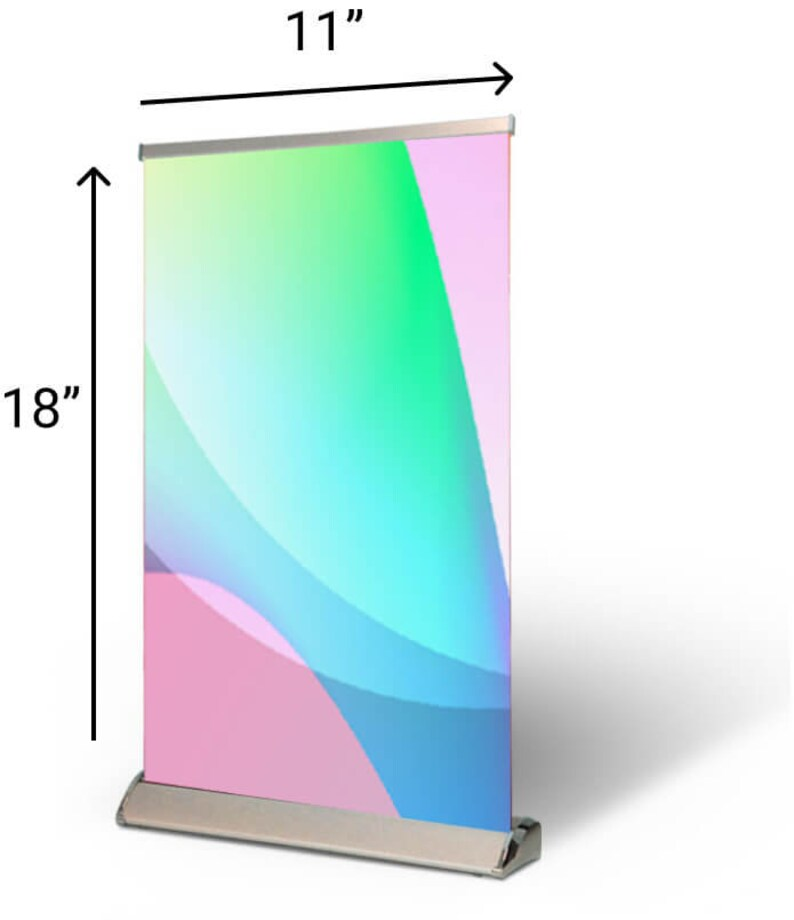 Table Top Pull Up Banner Small Trade Show Signage 11 X 18