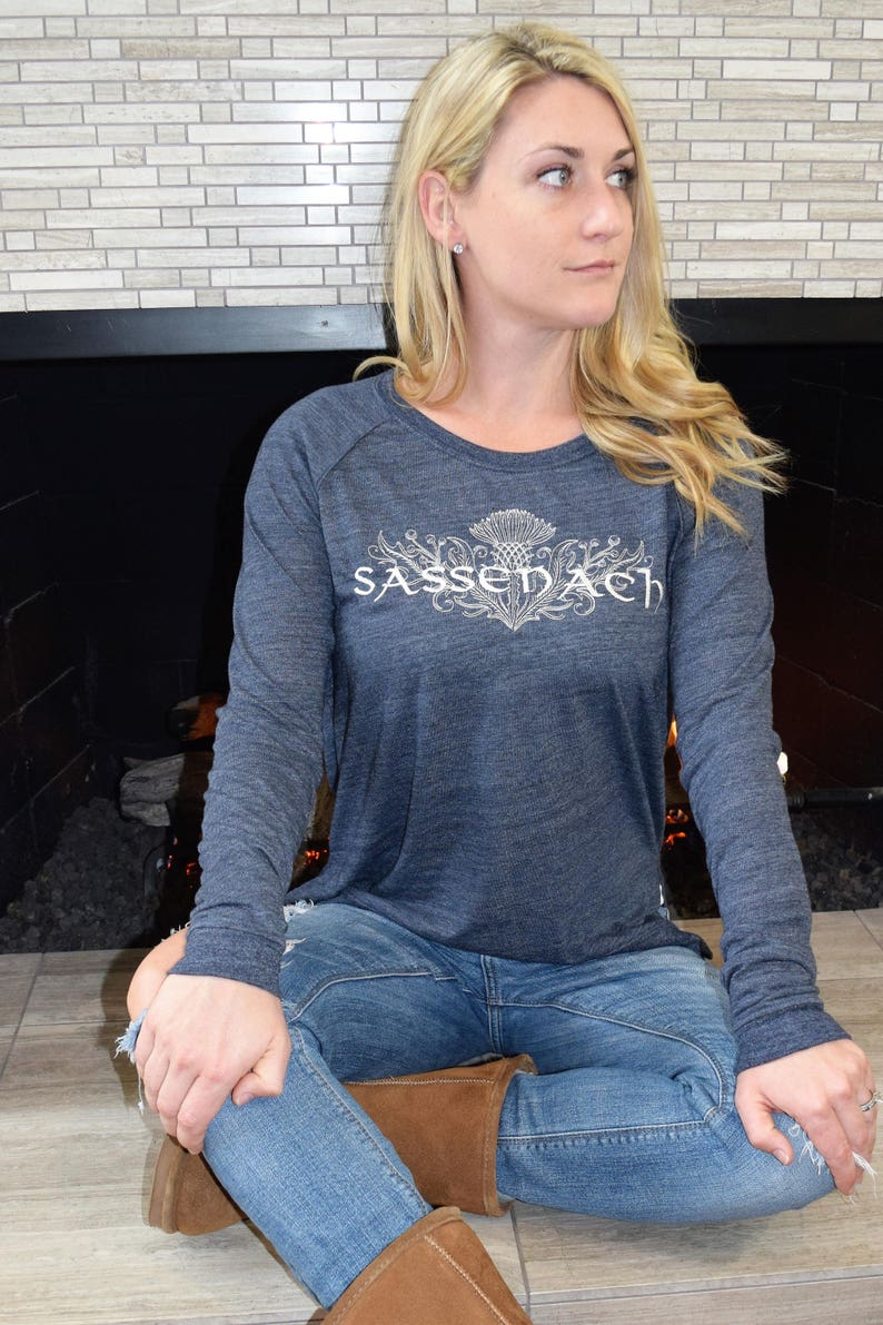 Bookish Scottish Thistle Sassenach Embroidered Pullover Customize Your Colors! Organic and Recycled Materials
