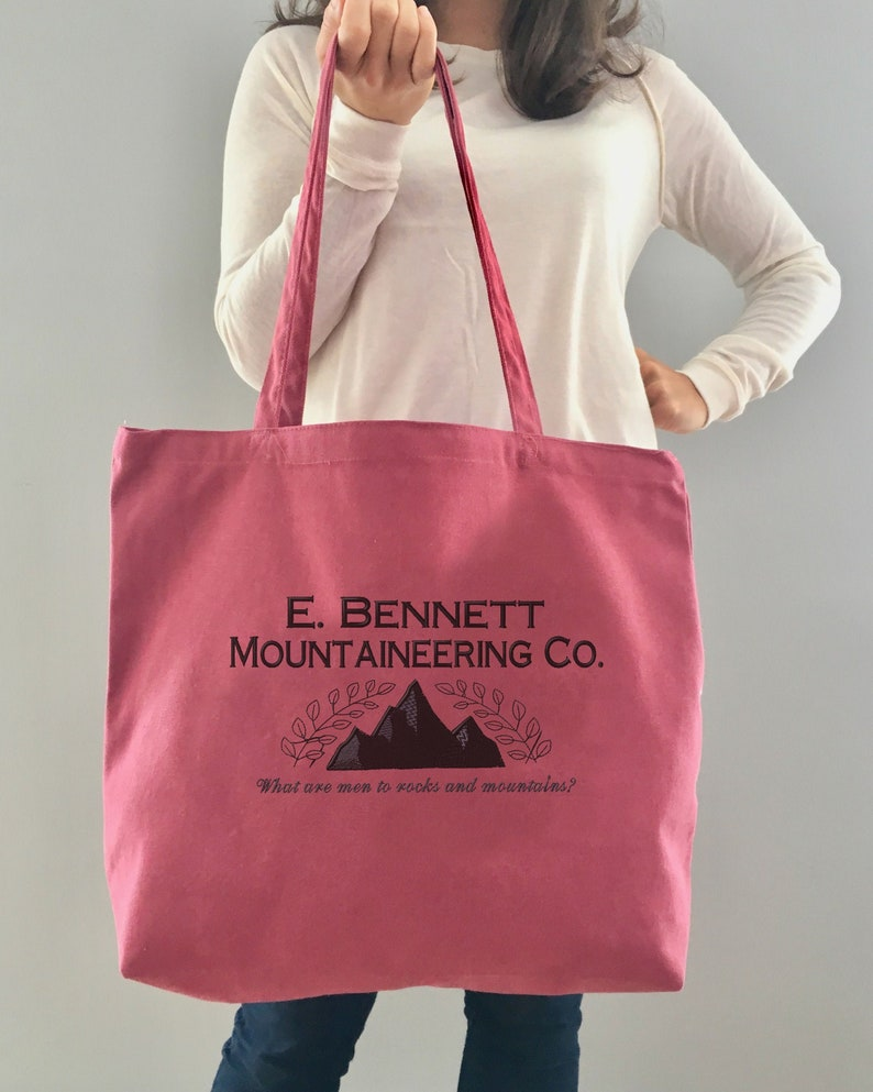 Bennett Mountaineering Co Jane Austen Tote Embroidered Book Bag E