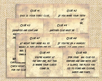 picture relating to Clue Replacement Sheets Printable titled Clue Etsy