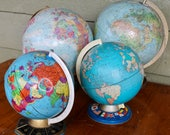World Maps Earth Globes Vintage Library Mad Men Office Decor Mid Century Modern Living Room Decor Hallway Mantle Christmas Mantle Display