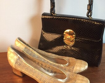 02bf148e294 Vintage gold lace pumps nordstrom salon shoes gold dress shoes vintage  bridal shoes mother of the bride designer footwear nyc