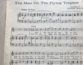 """Sheet Music -""""Man on the Flying Trapeze"""""""