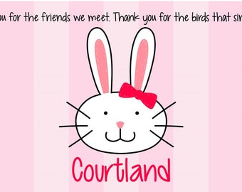 Godchild easter gift etsy personalized bunny placemat kids placemat easter placemat prayer placemat spring placemat negle Images
