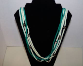 Five Strand Beaded Necklace