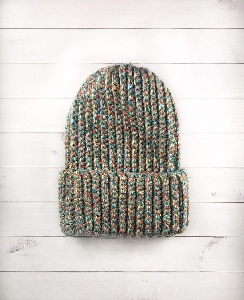 Crochet Unisex BeanieMulticolored Basic BeanieSlouchy Beanie