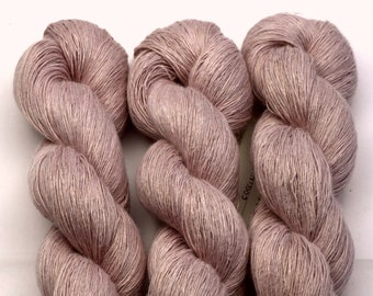 Linen flowers, hand-dyed with natural colours, 100g-840 m,