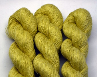 LINO Gialo Light, hand-dyed with natural colours, 100g-840 m,