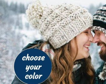 c00a667d8eb Soft Wool Chunky Knit Hat