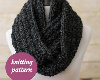 PDF KNITTING PATTERN, Ladders Chunky Infinity Scarf, Knit Cowl, Circle Scarf, Snood