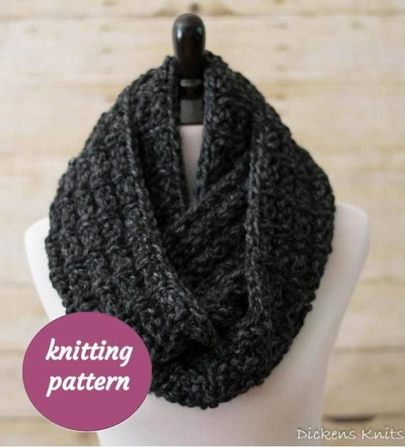 Pdf Knitting Pattern Ladders Chunky Infinity Scarf Knit Cowl Circle Scarf Snood