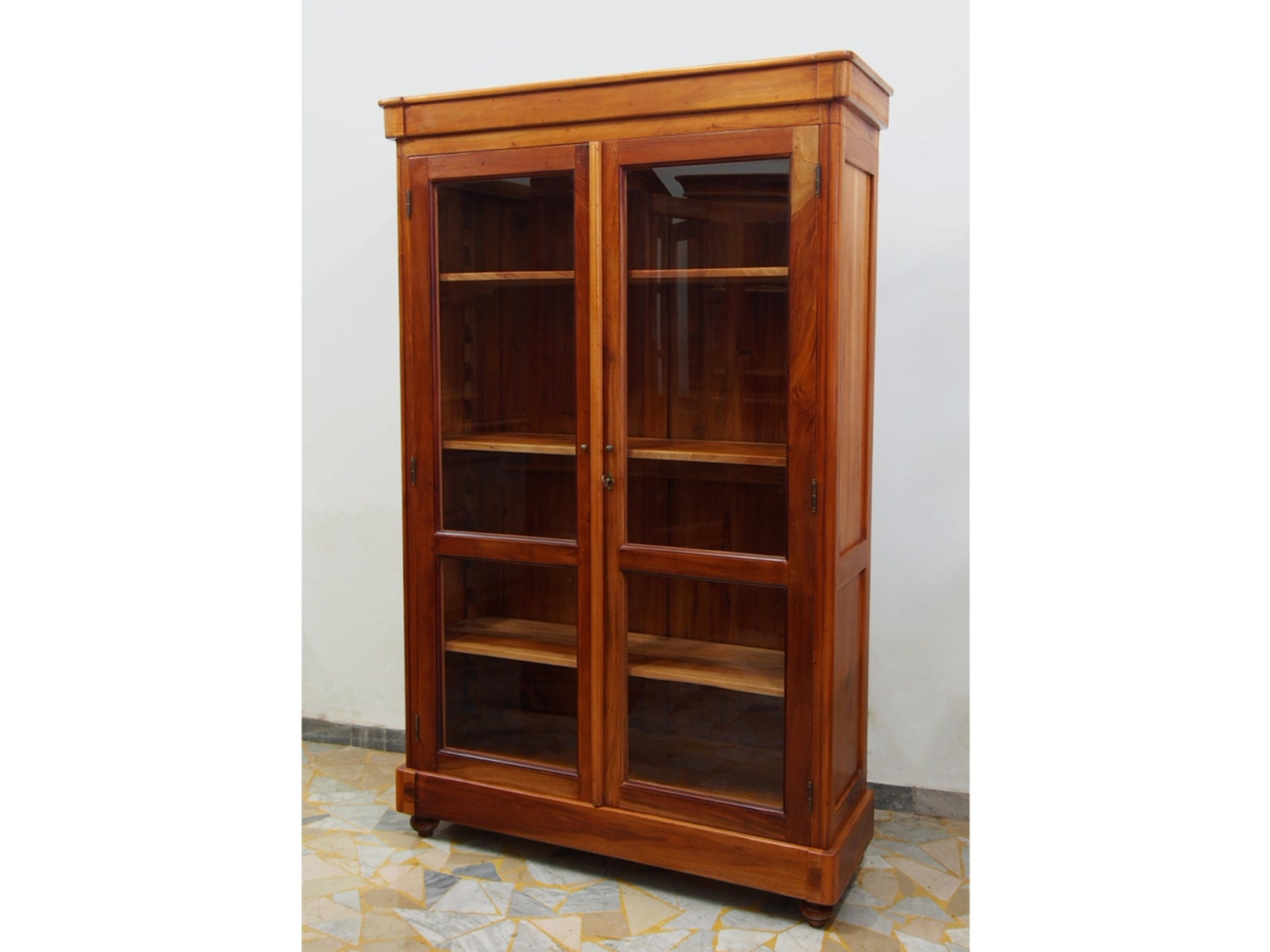Solid Wood Bookcases: Bookcase In Cherry Solid Wood