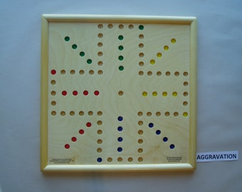 AGGRAVATION WOODEN GAME Board 15 x 15 inch