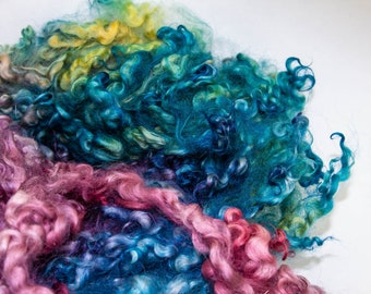 Long English Leicester Locks for Lock Spinning Doll Hair Felting Rich Colors