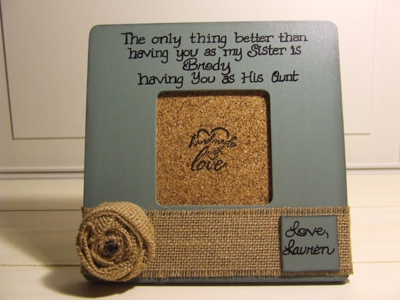 SISTER GIFT personalized frames Gift for Aunt niece nephew frames ...