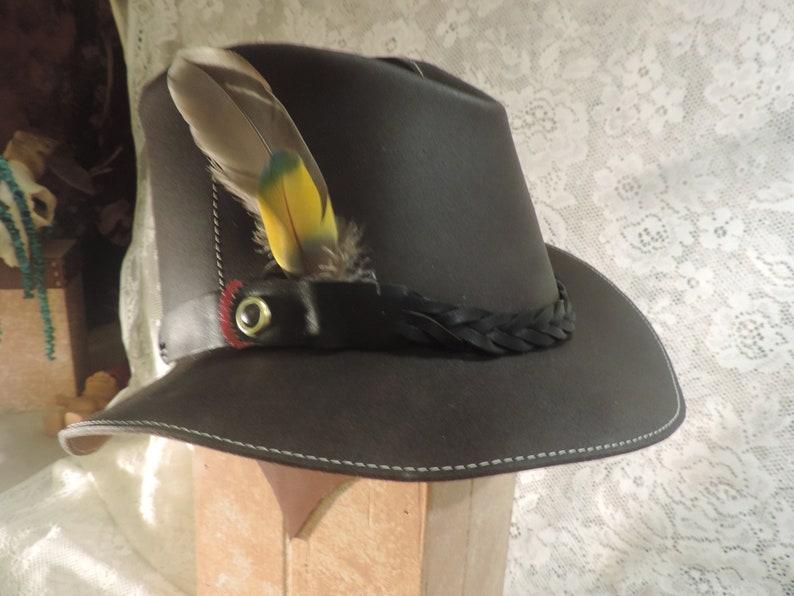 My original 1972 pattern Handmade Leather short brimmed hat