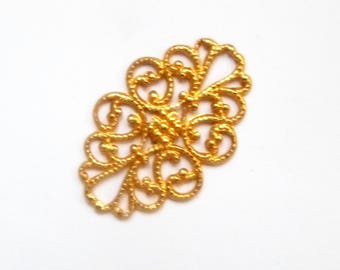 Oval gold print