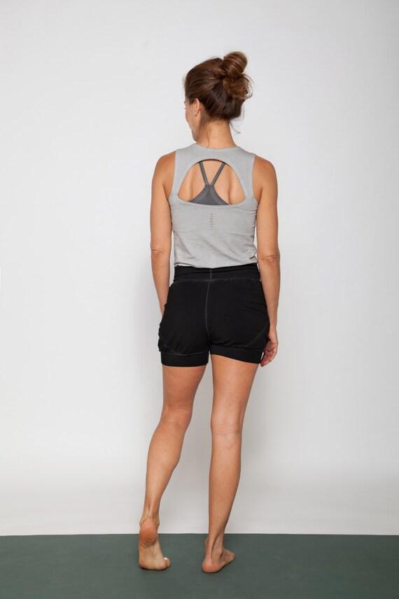 556270de3f Items similar to Slouchy Yoga Shorts in black on Etsy