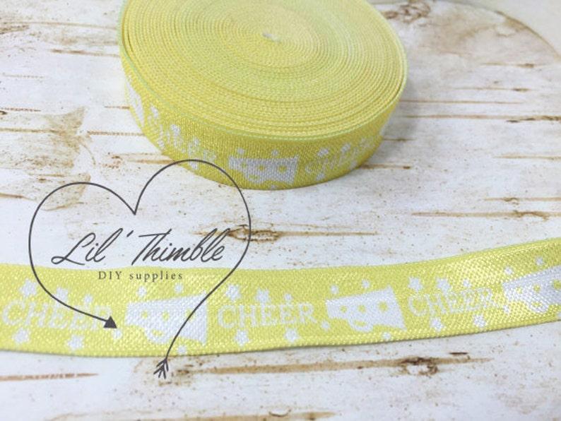 "3 yards brown 5//8/"" fold over elastic FOE  DIY baby headbands /& hair ties"