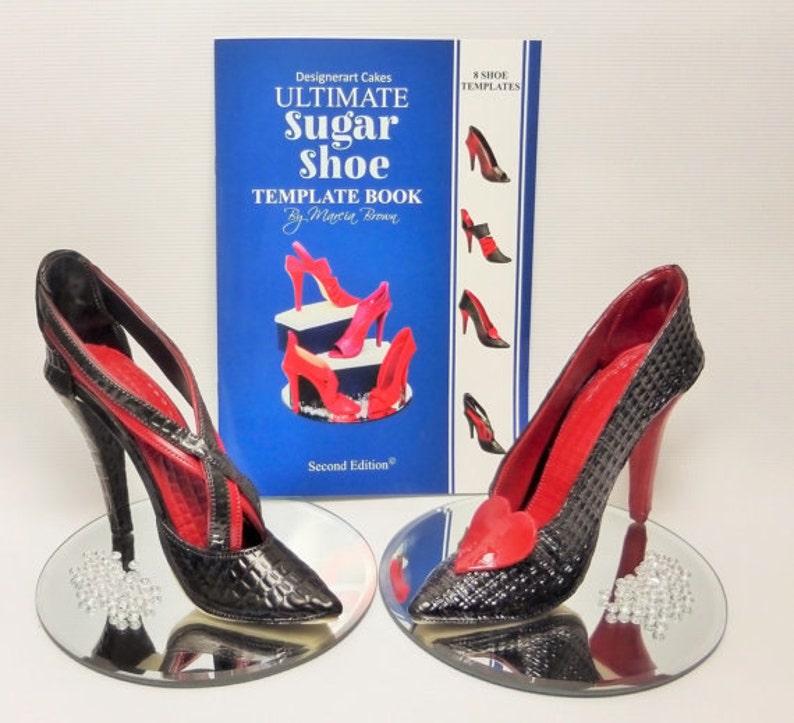 High Heel Shoe Template   Designerart Cakes High Heel Shoe Template Book 8 Shoe Etsy