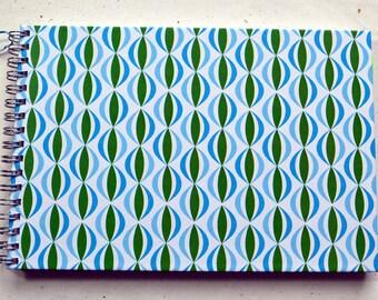 Ring liner DIN A5 - Vintage wallpaper pattern, retro design, 2nd choice