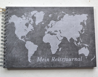 Ringbuch DIN A5 - Travel Journal, Travel Diary, Table Look World Map, 2nd Choice