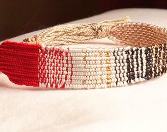 women's silk hand-woven bracelet