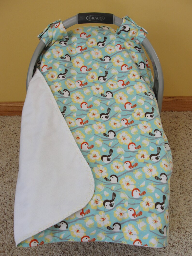Birds and Flowers Canopy Car Seat Cover