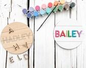 DIY Kit, Name Sign, Boredom Buster, Easter Basket Stuffer, Personalized DIY Kit, Laser Cut Sign