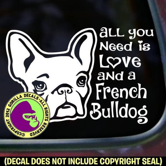 French Bulldog #2  Vinyl Decal Sticker Color Choice HIGH QUALITY
