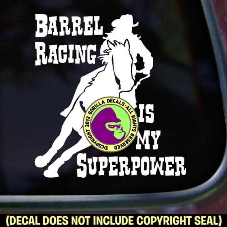 HIBISCUS Barrel Racing Vinyl Decal Sticker C